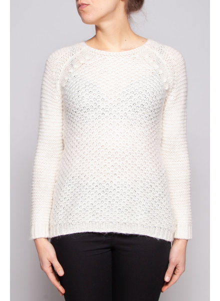 Berenice WHITE KNITTED SWEATER