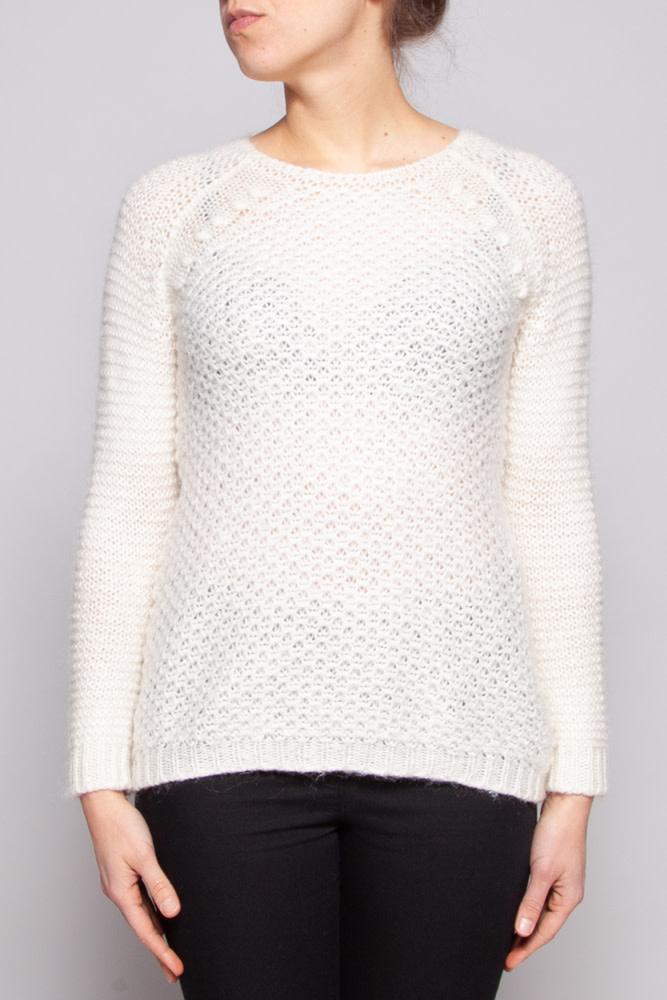 Berenice White Knitted Sweater