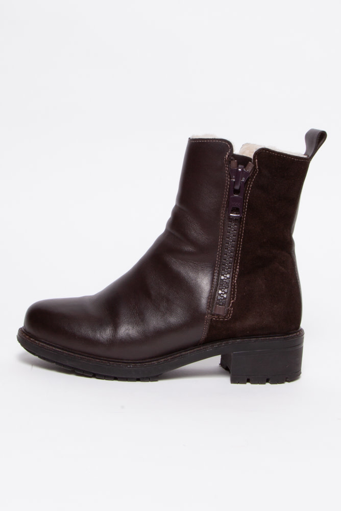 Maguire Sheepskin Lined Brown Leather Boots
