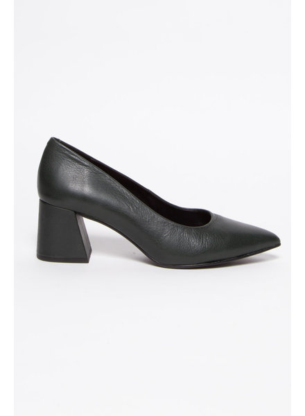 L'intervalle GREEN LEATHER PUMPS