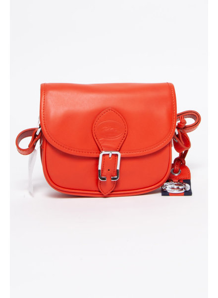 Longchamp ORANGE LEATHER BAG - NEW