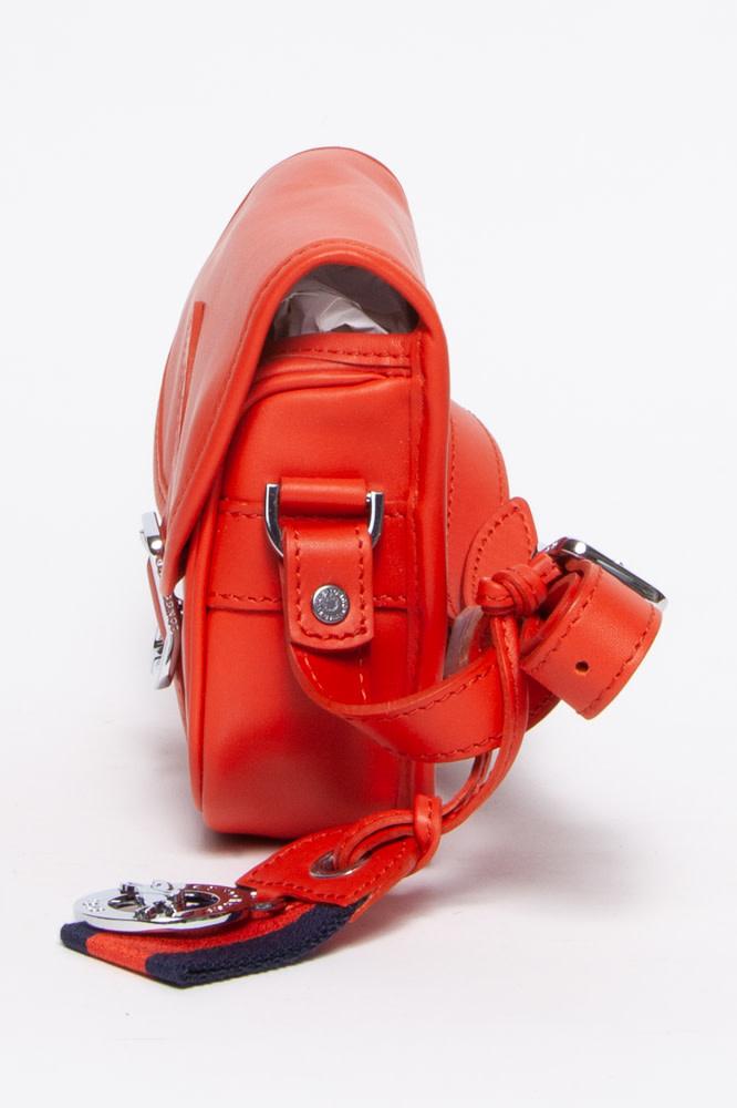 Longchamp Sac à main en cuir orange - New