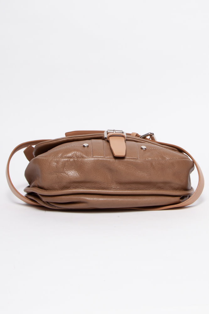 Longchamp Beige Leather Bag