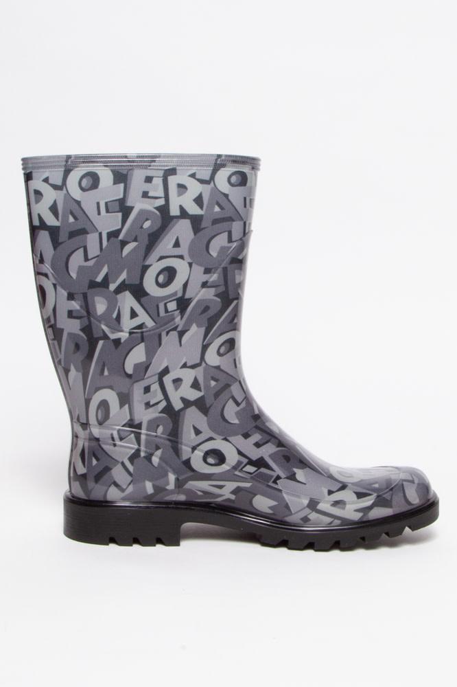 Salvatore Ferragamo Bottes de pluie  grise monogramme