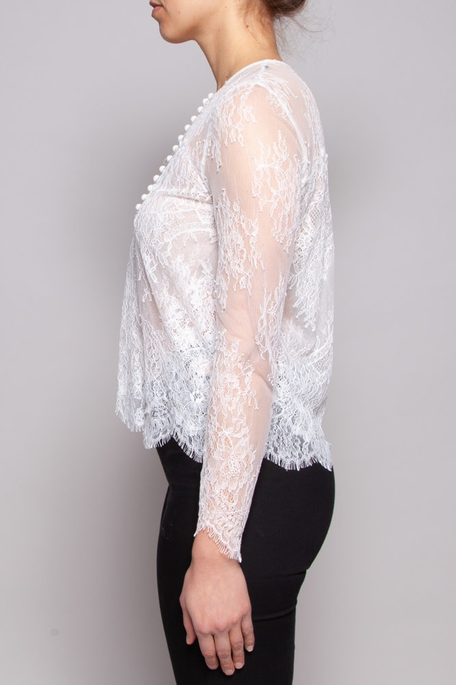 The Kooples WHITE LACE TOP - NEW WITH TAG