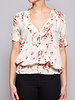 Joie OFF-WHITE FLORAL-PRINT SILK BLOUSE - NEW WITH TAGS
