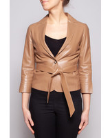 Tombolini CAMEL LEATHER BLAZER