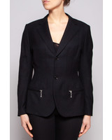 Junya Watanabe Comme des Garçons BLACK WOOL BLAZER WITH LEATHER ELBOWS