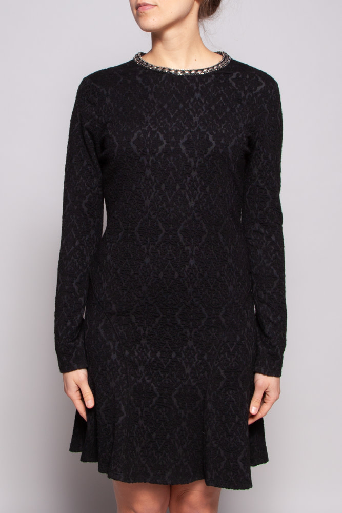 The Kooples Robe texturée noire - Neuf