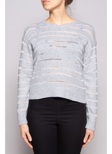 Rag & Bone GREY STRIPED SWEATER - NEW WITH TAG