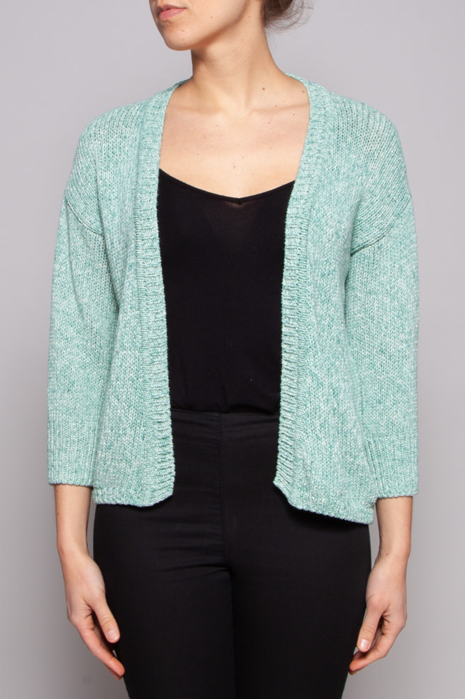 Weekend Max Mara Veste chinée turquoise