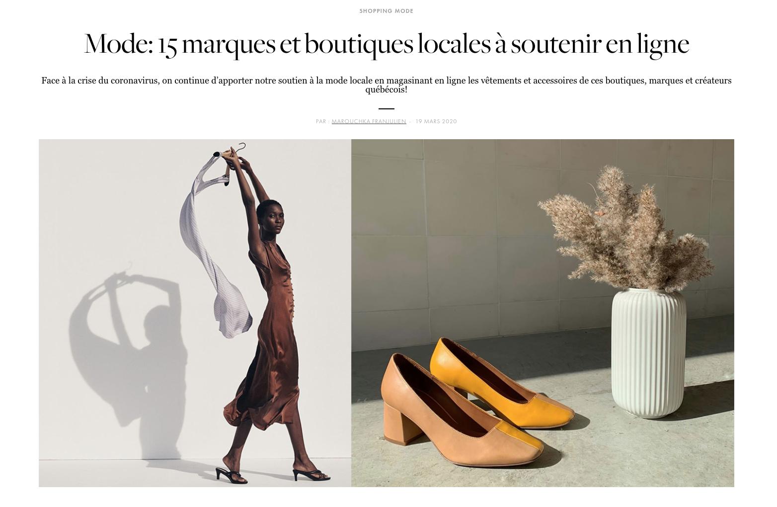 15 marques québécoises à encourager
