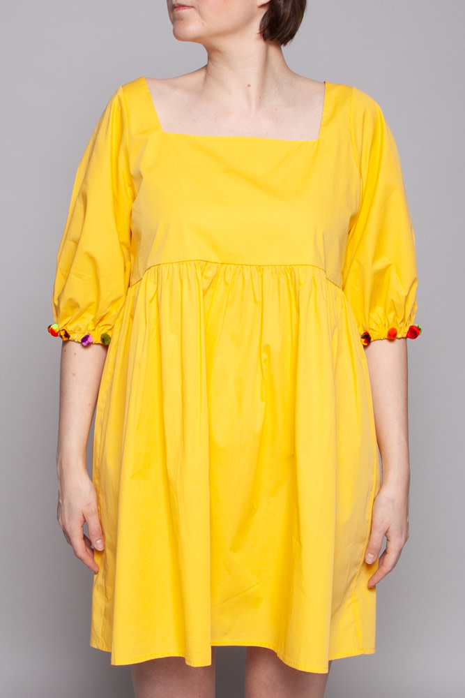 Pitusa YELLOW DRESS WITH TASSELS - SAMPLE (NEW)