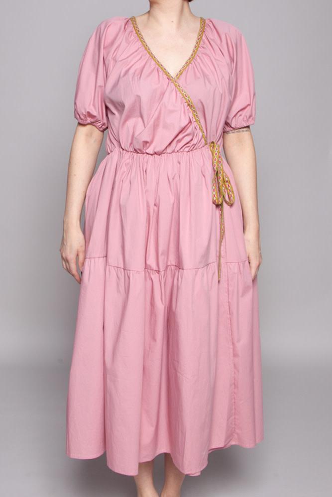 Pitusa PINK EMBROIDERED DRESS - NEW (SAMPLE)