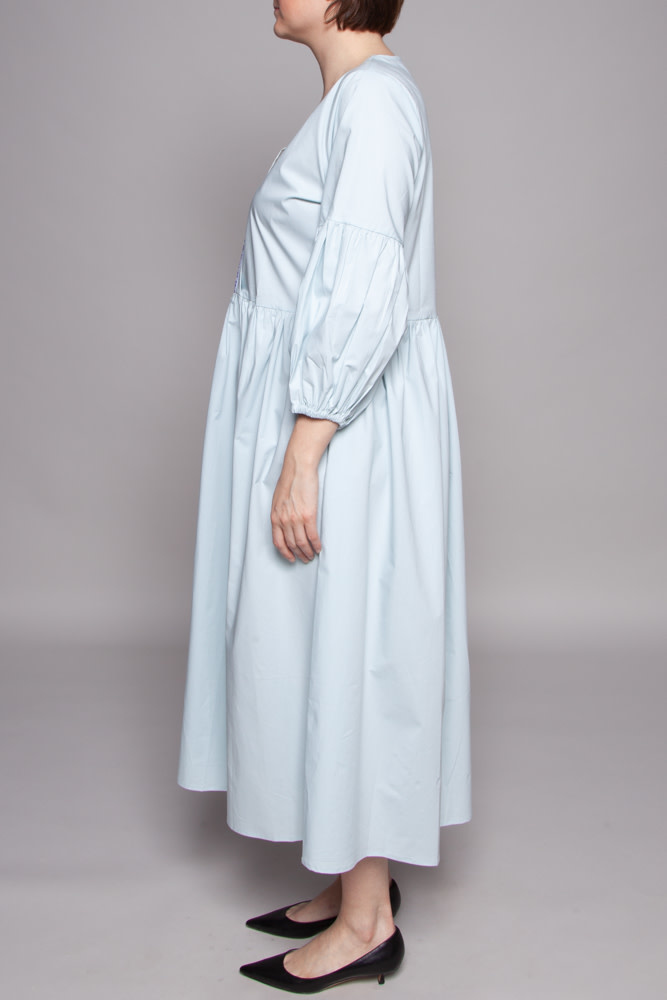Pitusa BABY BLUE EMBROIDERED DRESS - NEW (SAMPLE)