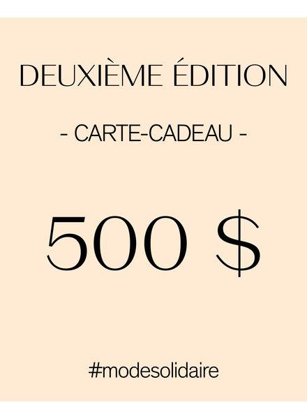 CARTE-CADEAU 500 $