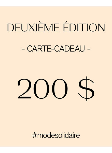 CARTE-CADEAU 200 $