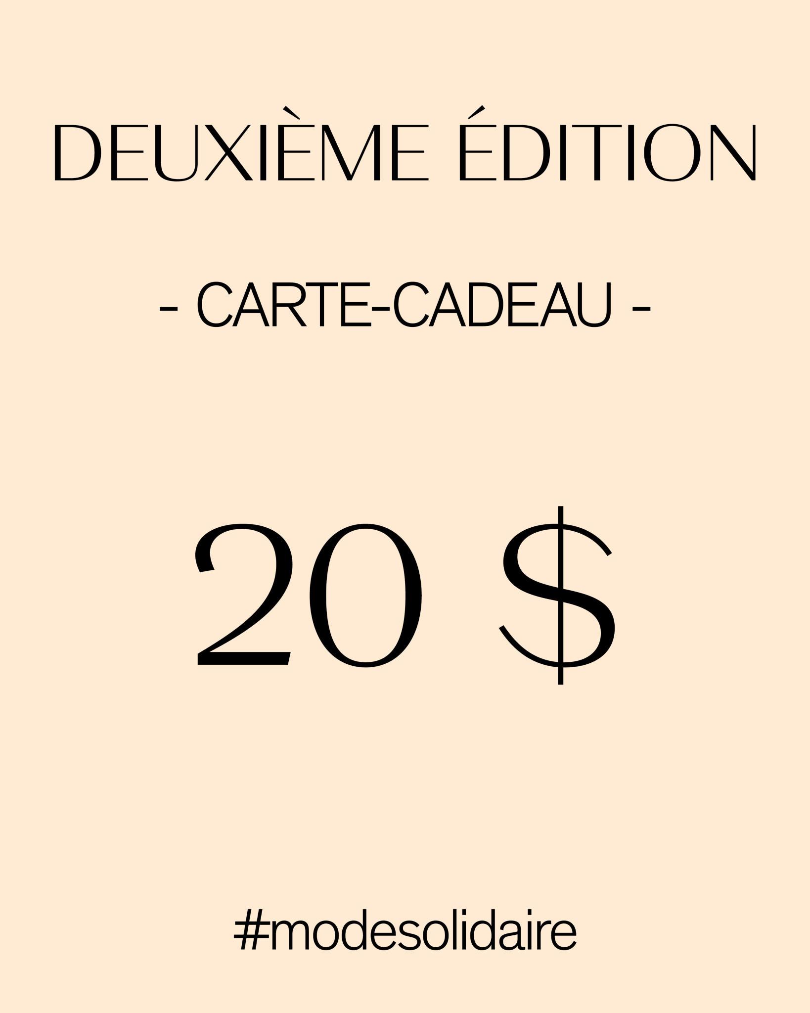 CARTE-CADEAU 20$