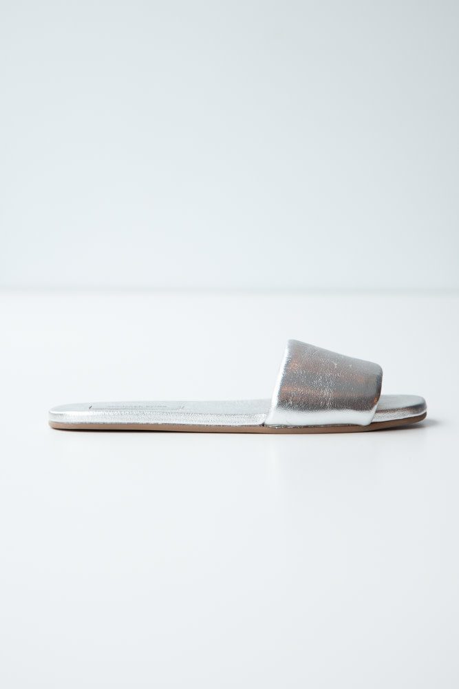 Michael Kors Collection NEW PRICE (WAS $110) - SILVER SLIDE