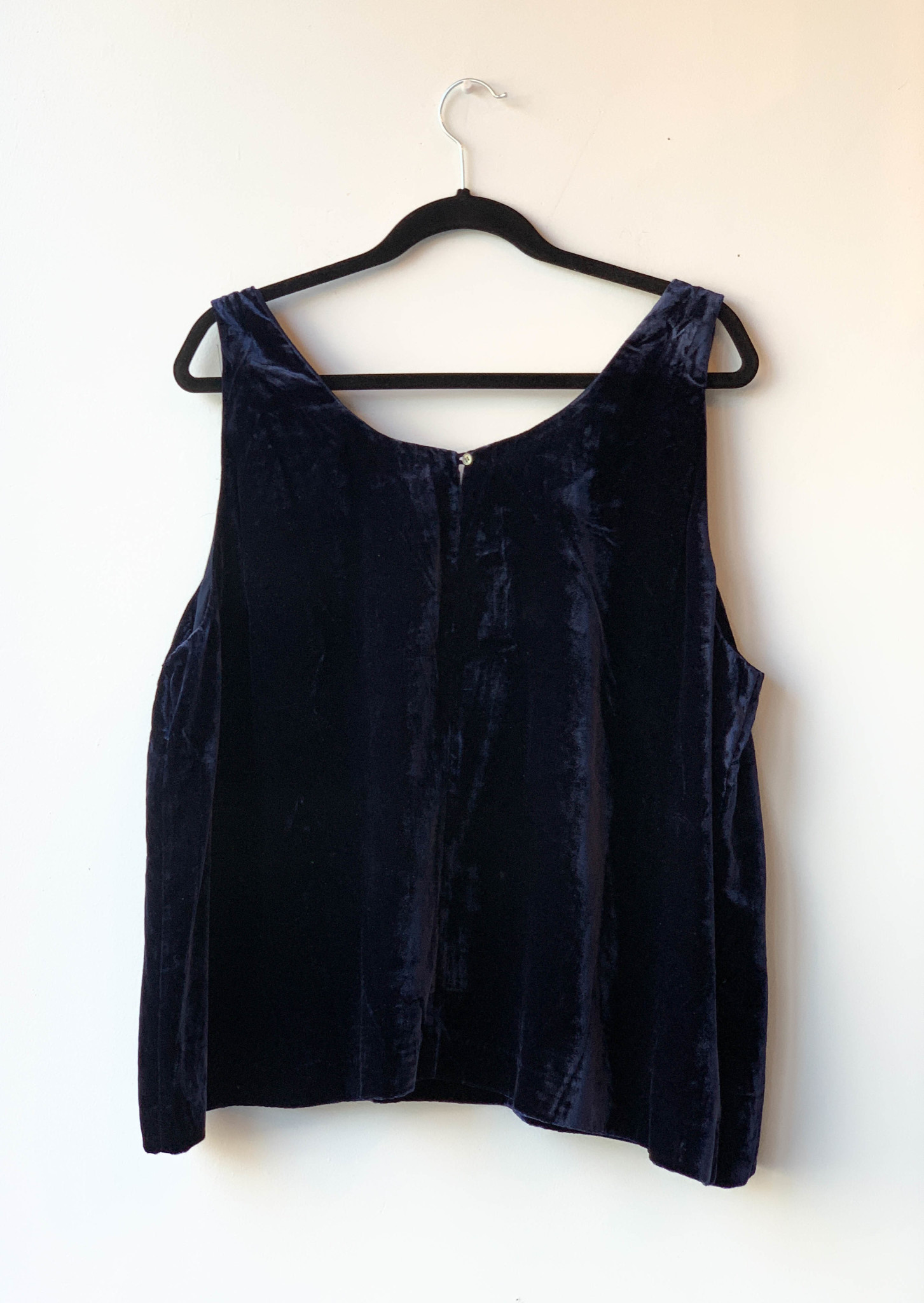 J.Crew BLUE VELVET TOP - NEW WITH TAG