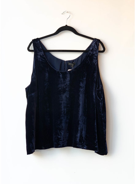 J.Crew BLUE VELVET TOP - NEW WITH TAG (SIZE 22)