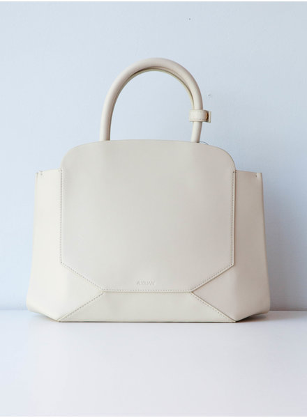 Auxiliary OFF-WHITE LEATHER BAG - WITH TAGS