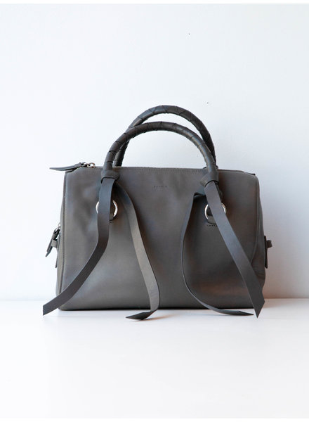 All Saints VOLTAIRE LEATHER SMOKY BLUE BOWLING BAG