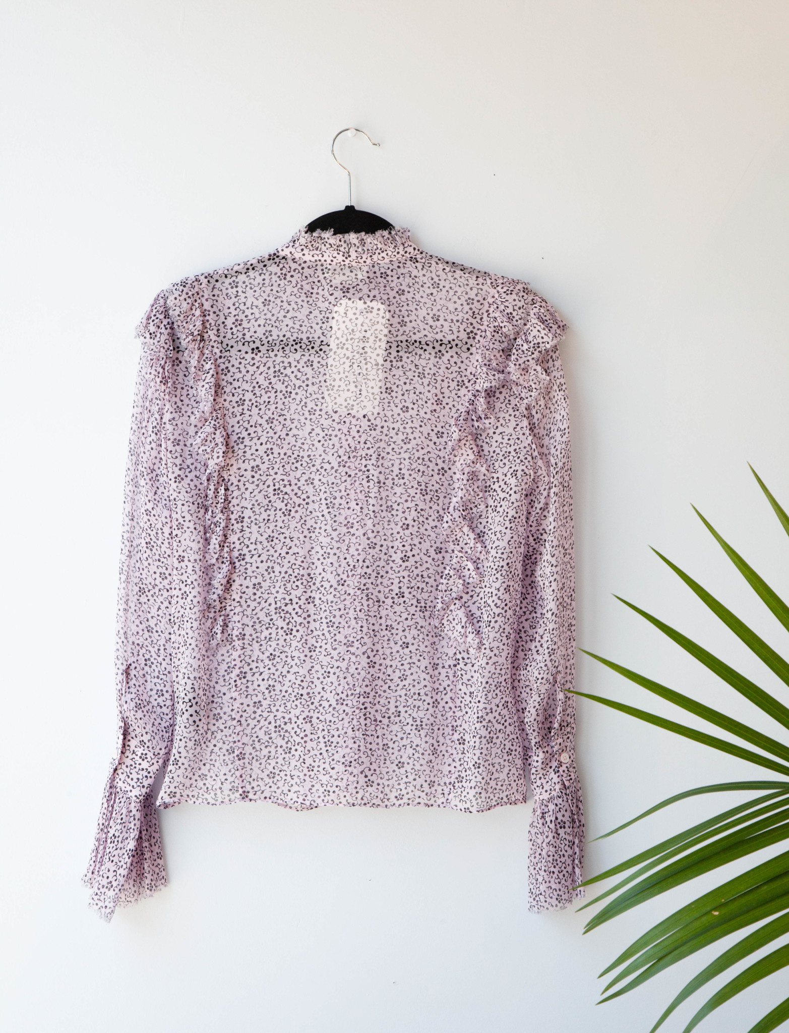 Zadig & Voltaire VIOLET SEE-THROUGH BLOUSE