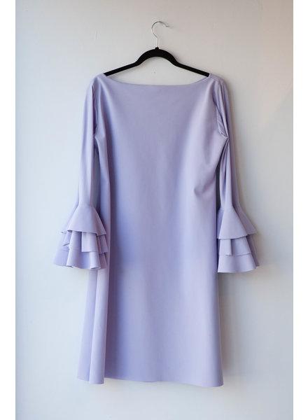 Chiara Boni SALE (WAS $120) - LILAC TROMPET-SLEEVE DRESS
