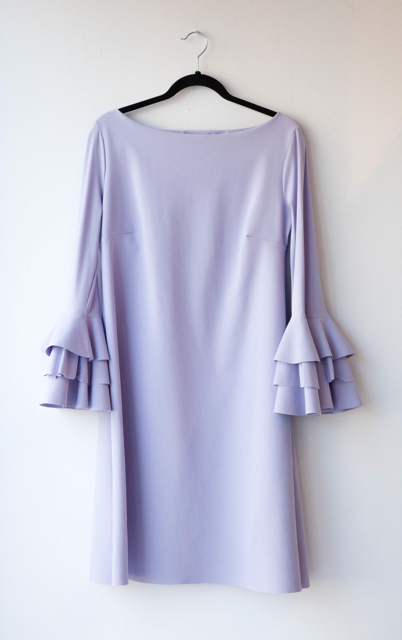 Chiara Boni LILAC TROMPET-SLEEVE DRESS