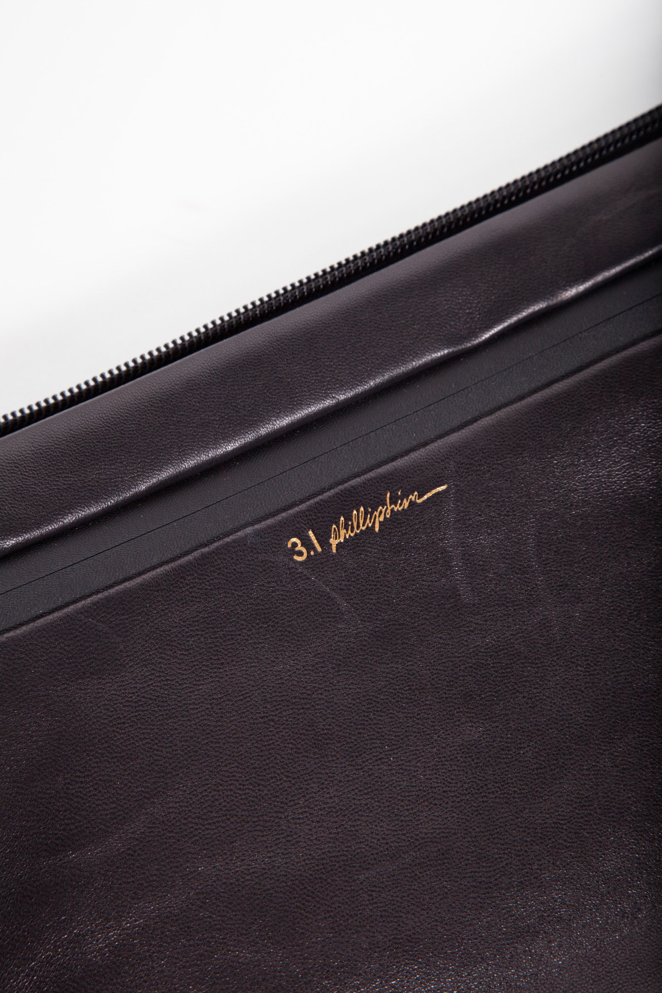 3.1 Phillip Lim GREEN LEATHER AND NEOPRENE POUCH - NEW