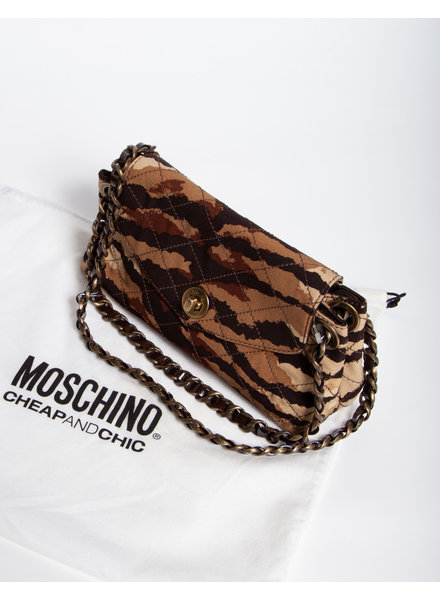 Moschino Cheap and Chic CAMOUFLAGE HANDBAG WITH CHAIN - WITH TAG