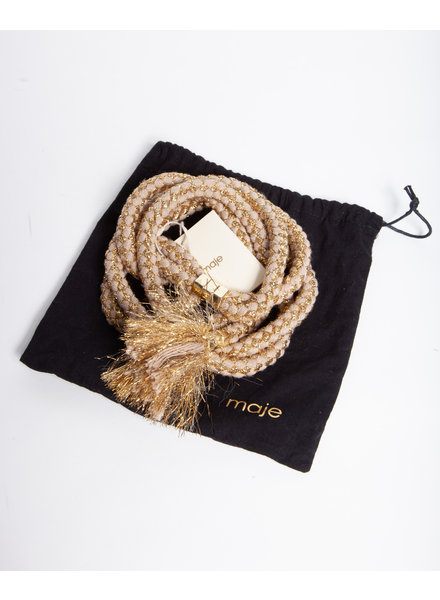 Maje ROPE BELT WITH GOLDEN THREADS