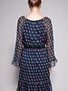 Diane von Furstenberg BLUE FLOWER-PRINT SILK DRESS