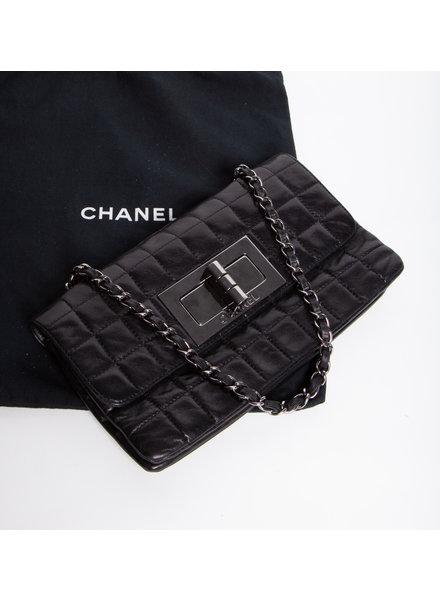 Chanel SAC À MAIN NOIR EN CUIR MATELASSÉ - CHANEL