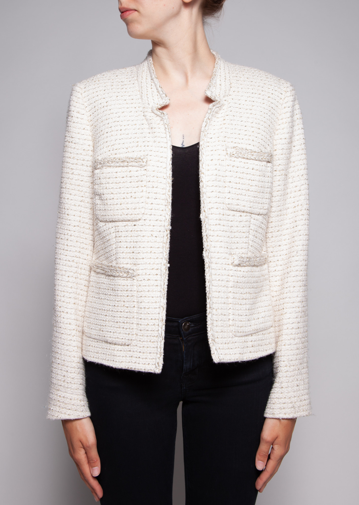 J.Crew OFF-WHITE TWEED BLAZER
