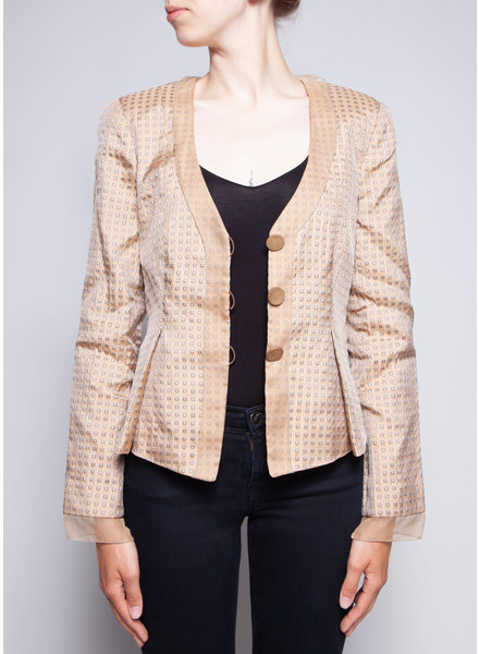 Giorgio Armani BEIGE JACKET LINED WITH SILK