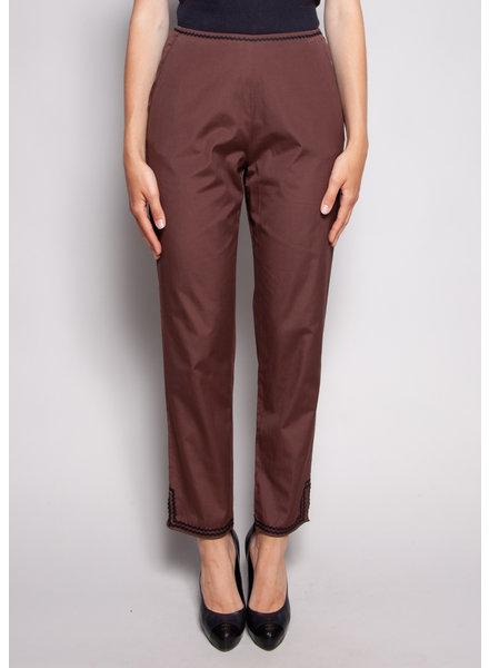 Miu Miu BROWN COTTON PANTS