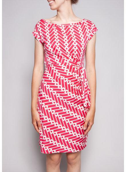 Diane von Furstenberg WHITE ROSE SILK DRESS