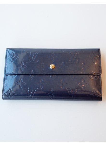 Louis Vuitton DARK PURPLE WALLET WITH MONOGRAM PRINT LV