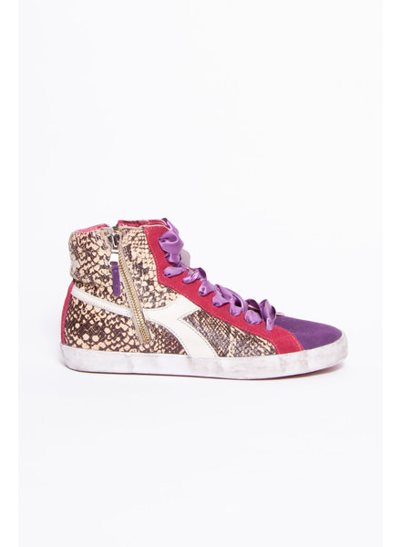 Diadora Heritage HIGH-TOP SHOES WITH DOUBLE SNAKE PRINT AND DOUBLE ZIPPER