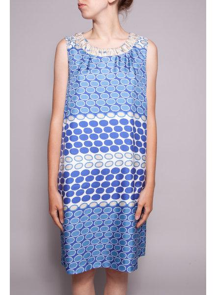 Seventy BLUE PRINT SILK DRESS