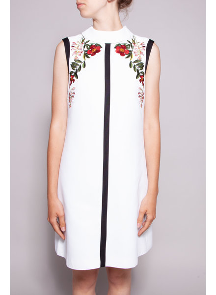 Ted Baker WHITE FLOWER EMBROIDERED DRESS