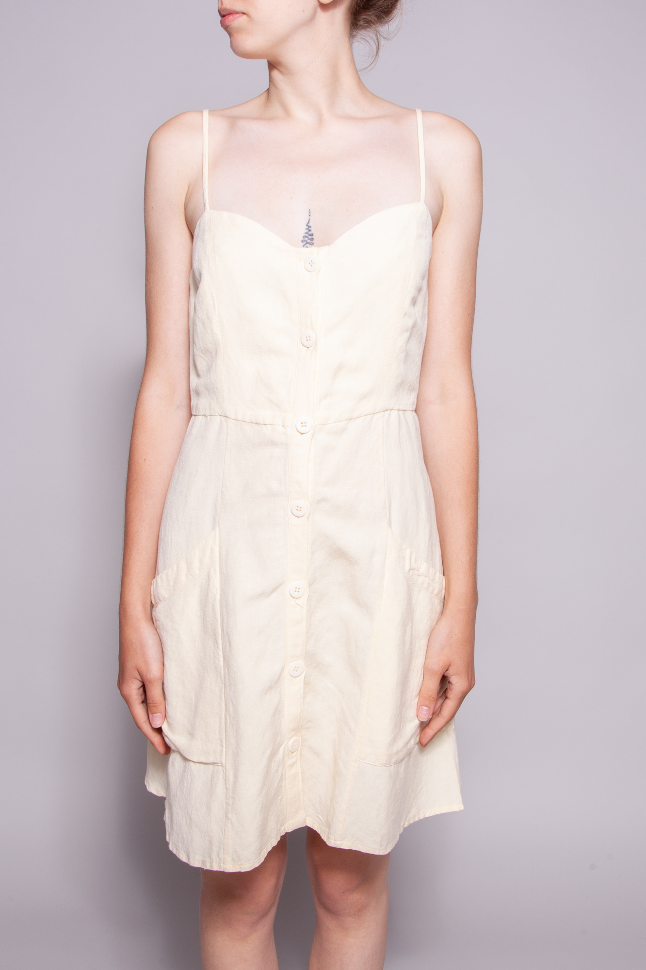 Rails Aurora Pale Yellow Dress  with Linen - New
