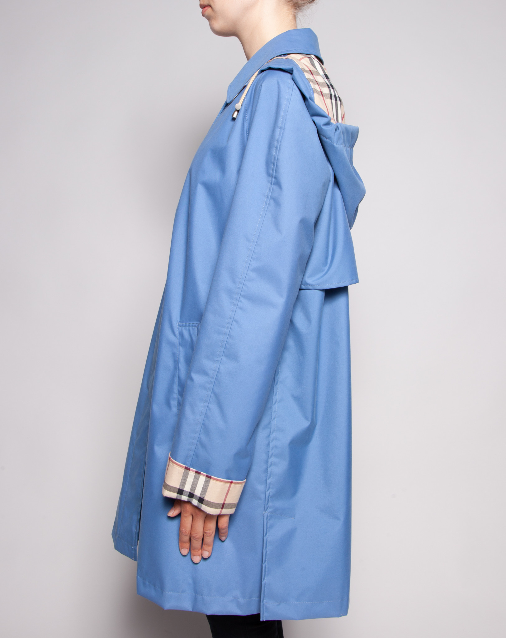 Burberry BLUE TRENCH (LINING: BURBERRY MONOGRAM)