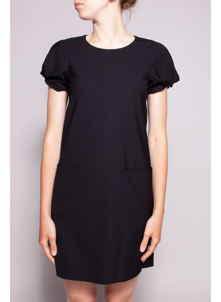Theory BLACK DRESS WITH FRONT POCKETS