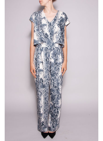 Notes du Nord SKAKE PRINT JUMPSUIT WITH CUT-OUT HIPS - NEW WITH TAG