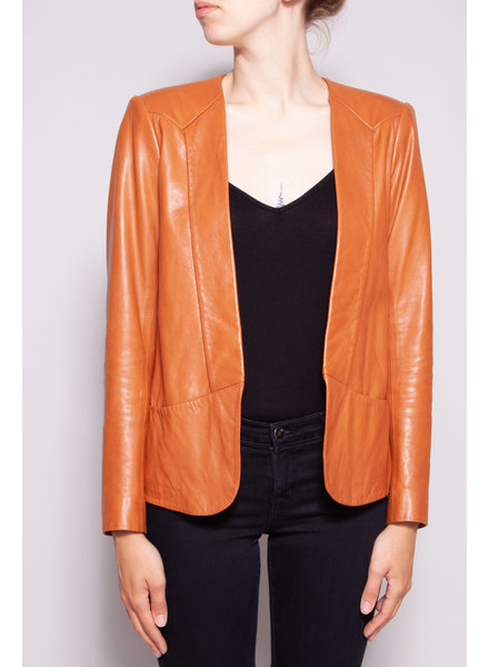 Theory COGNAC LAMB LEATHER JACKET