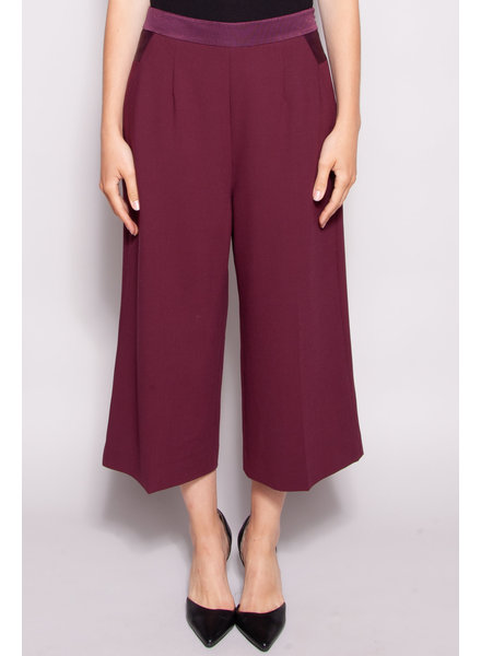 Ted Baker BURGUNDY WIDE LEG PANTS - NEW WITH TAG