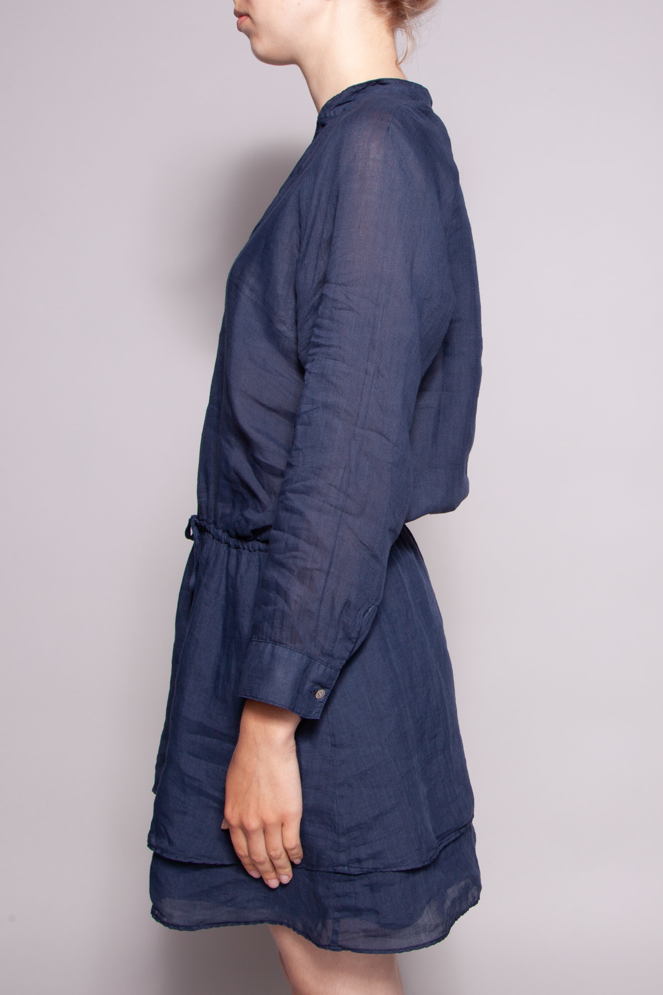 Theory NEW PRICE (WAS $110) - SHEER DARK BLUE RAMIE DRESS TUNIC